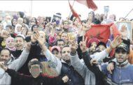 سكان بنمسيك يحتجون على هدم ما تبقى من دور الصفيح