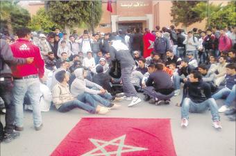 استمرار الاحتجاجات باليوسفية إثر التدخل العنيف للشرطة