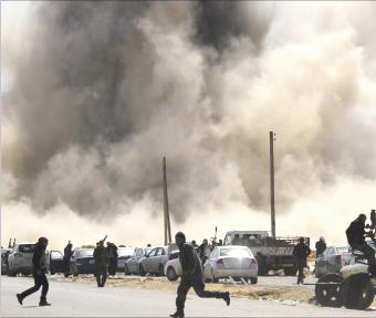 الثوار يصدون هجوما لكتائب القذافي على مصراتة
