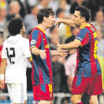 ميسي يقرب برشلونة من نهائي الأبطال