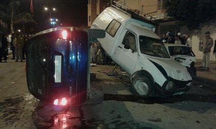 سيارةبارون مخدرات تتسبب في حادثة