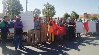 احتجاج بالفقيه بن صالح بسبب الماء والكهرباء