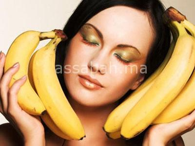 قشور الموز للشعر الجاف والمتضرر