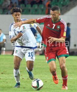 الإصابة تغيب القادوري أمام ألبانيا وساوتومي