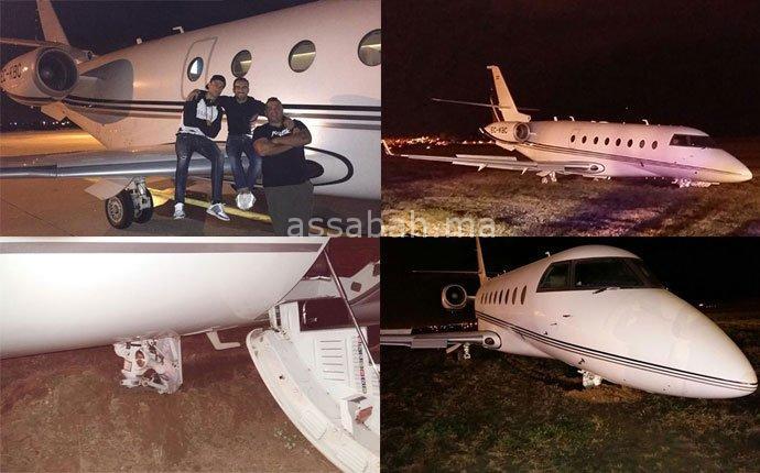 الطائرة التي تقل رونالدو إلى المغرب تحطمت في برشلونة