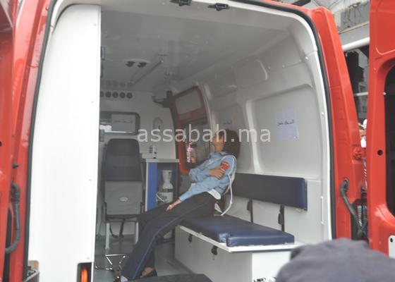 متشرد يعتدي على شرطية بوحشية بالبيضاء