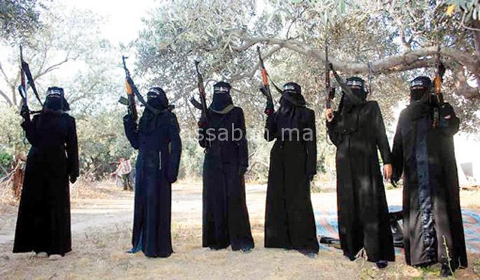 ثلث المقاتلات المغربيات من الشمال