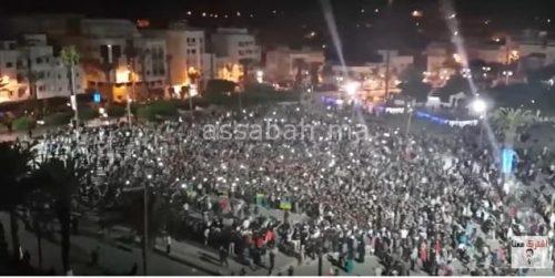 فيديو .. هجوم حاد على حكومة العثماني في مسيرة الحسيمة