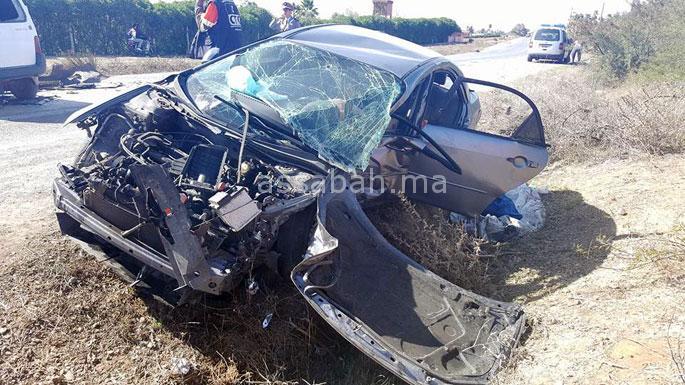 إصابة تسعة أشخاص في حادث مروع