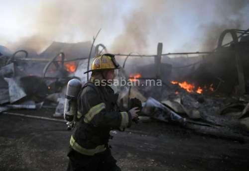 بالصور ... حرائق إسرائيل تستمر لليوم الرابع على التوالي