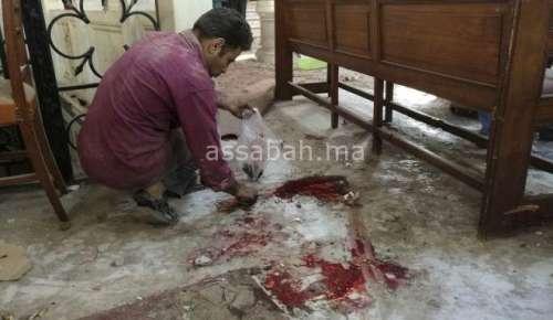 بالصور والفيديو ... دمار صادم خلفه تفجير كنيسة القاهرة أمس