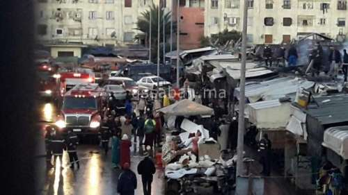 بالصور ...حريق يأتي على عشرات المحلات في سوق الحي المحمدي بالبيضاء
