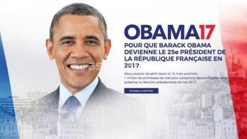 حملة لانتخاب أوباما رئيسا لفرنسا