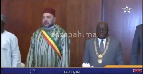 Photo of فيديو .. مأدبة عشاء على شرف الملك في غانا