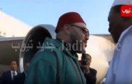 فيديو .. وصول الملك إلى غينيا