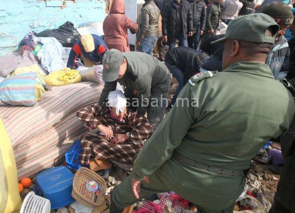 ضحايا فيضانات يواجهون بالأمن