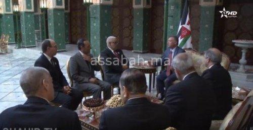 فيديو .. ملك الأردن يستقبل بنكيران ورئيسي مجلسي النواب والمستشارين