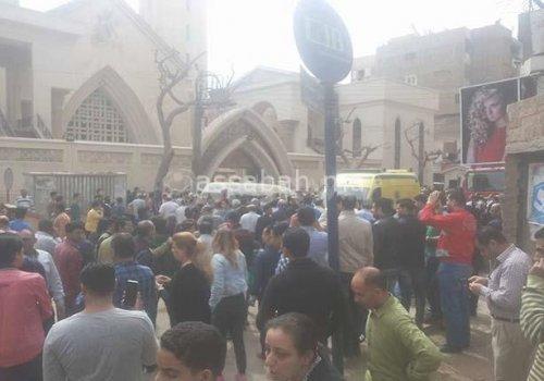 عاجل ..انفجار ثان بكنيسة بالاسكندرية