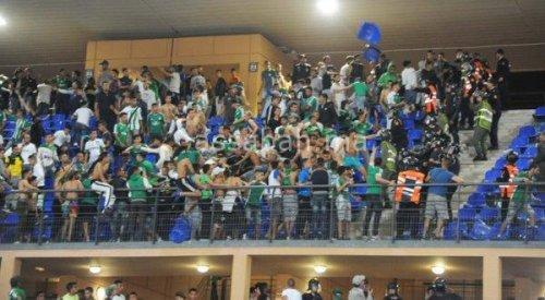 جمهور الرجاء يخرب ملعب مراكش
