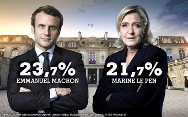 النتائج شبه النهائية لانتخابات فرنسا الرئاسية