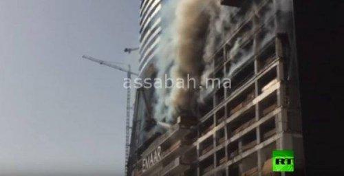 Photo of فيديو ..حريق في أحد أبراج دبي
