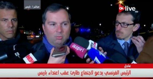 فيديو .. تصريح المتحدث باسم وزارة الداخلية الفرنسية بعد اعتداء باريس
