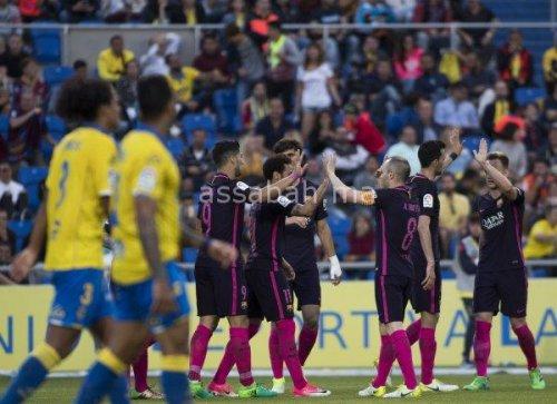 فيديو .. فوز برشلونة بملعب لاس بالماس