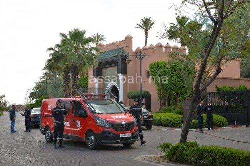 إصابة شخص في حريق بفندق المامونية بمراكش