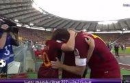 فيديو .. لحظة مغادرة توتي لروما بالدموع