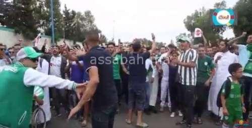 فيديو ..مشاهد من وقفة جماهير الرجاء ضد حسبان