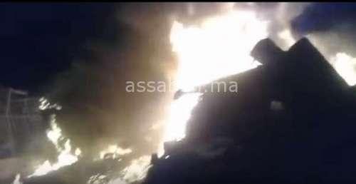 فيديو .. حريق مهول بالحي المحمدي بالدار البيضاء
