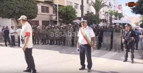 فيديو .. مشاهد من المسيرة المحدودة بالحسيمة