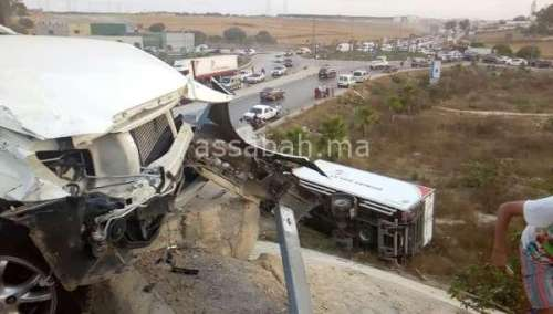 بالصور .. حادثة سير خطيرة بالبيضاء