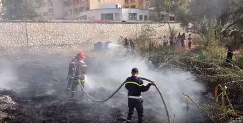 فيديو .. من قلب حريق محطة قطار فاس