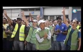 فيديو ..عمال الشحن بمطار البيضاء يحتجون