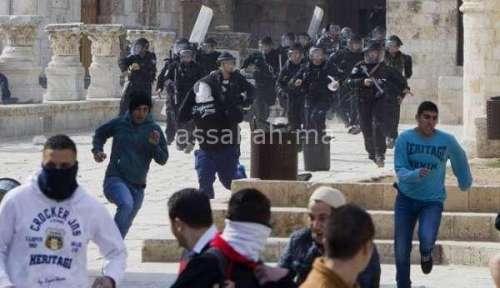 146 مصابا في اليوم الخامس للاحتجاجات على القدس