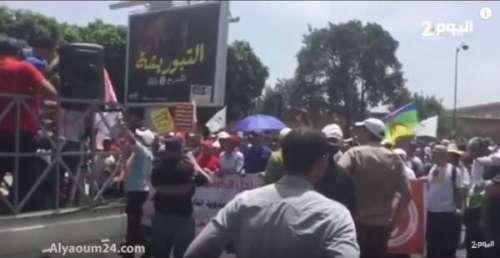 فيديو .. جانب من مسيرة الرباط تضامنا مع حراك الريف