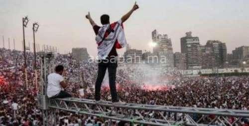 المئات من جماهير الزمالك أمام القضاء المصري