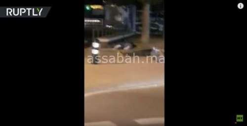 فيديو ... إطلاق نار ببرشلونة ولحظة مقتل الإرهابيين