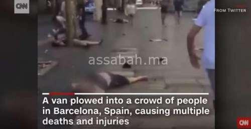 فيديو .. صور صادمة من اعتداء برشلونة
