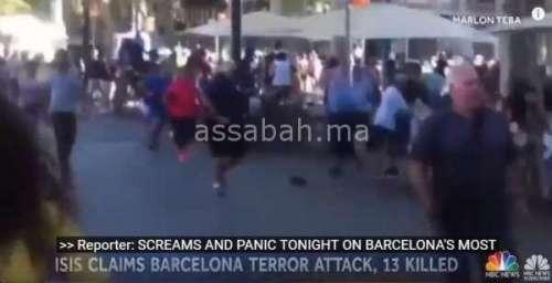 فيديو .. شهادات من قلب مكان اعتداء برشلونة