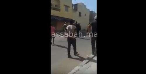 فيديو .. لحظة إطلاق الرصاص على مختل عقلي ذبح جدته بسلا