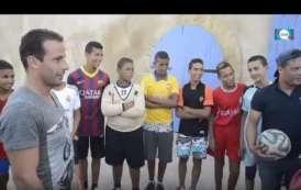 فيديو .. لاعب برشلونة السابق ليدوفيك جولي بالمدينة القديمة بالبيضاء