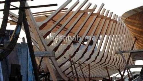 تفكيك ورش سري بالداخلة لتصنيع قوارب تقليدية
