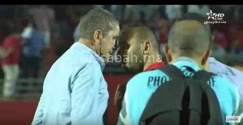 فيديو .. ملاسنات بين الركراكي وكاريدو في مباراة الفتح والرجاء