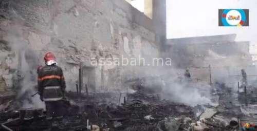 فيديو .. حريق بالمدينة القديمة بالبيضاء