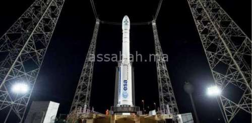 فيديو ... إطلاق القمر الصناعي محمد السادس B