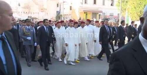 فيديو ..مولاي الحسن حاضر في تشييع جثمان الراحل الجنرال عبد الحق القادري