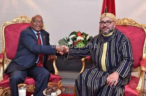 زوما سعيد بتطوير العلاقات مع المغرب