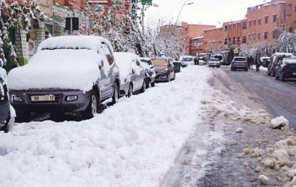 والي بني ملال يزور محاصري الثلوج